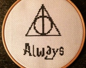 Harry Potter Always Deathly Hallows Cross Stitch