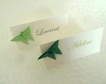10 brands place Butterfly origami for wedding - baptism - birthday - party table decoration - hand made