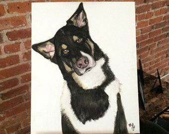 Custom 16x20 Pet Portrait *Made to order*