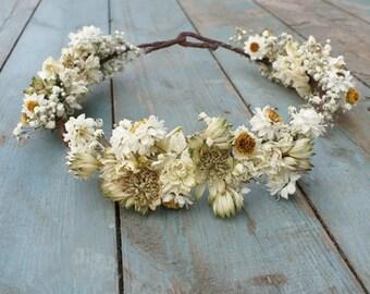 Wild Meadow Dried Flower Hair Crown