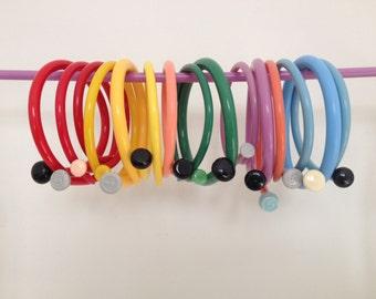 Custom Bracelet, Gift For Knitter, Personalised Bracelet, Vintage Plastic, Knitting Needle Bracelet, Quirky Fun Jewellery For Knitter