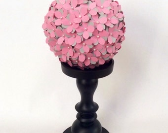 Paper Hydrangea ball - wedding pomander - 5 inches kissing ball