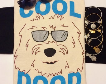 "T-Shirt ""Cool Dood"" Goldendoodle - Labradoodle Dog Design"