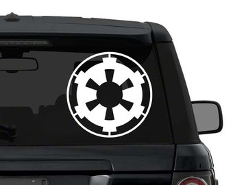 Star Wars Galactic Empire Decal Sticker for car truck laptop yeti ANY COLOR die cut vinyl