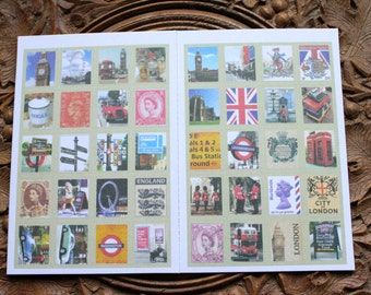 London stamp stickers, London Stationary Letter Writing set