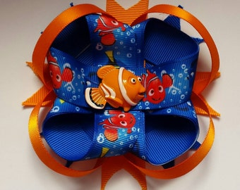 Finding Nemo loopy stacked boutique bow