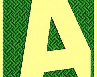 Font Monogram #054 Machine Embroidery Monogram Font Alphabet Design Set INSTANT DOWNLOAD