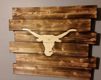 Popular Items For Longhorns Wall Art On Etsy