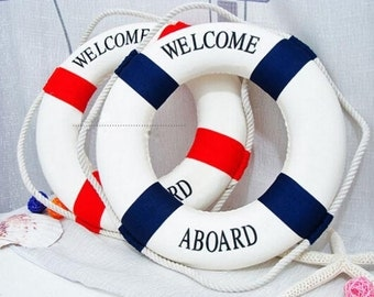 Maritime Decorative Welcome Aboard Life Bouy