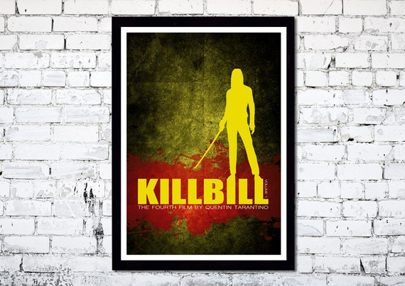 Kill Bill Volume 1 // A3 poster print // Quentin Tarantino // Uma Thurman // Unique Art