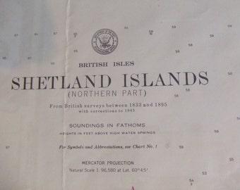 British Isles, Shetland Islands (Northern Part) - Nautical Chart 4407