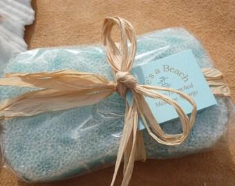 Soap Drenched Massage Sponge - Fresh Sea Breeze Fragrance