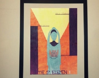 Minimalist movie poster the 5th element