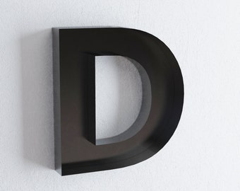D metal letter - wall decor / metal sign letters for home styling / 3D letter / miniature shelf