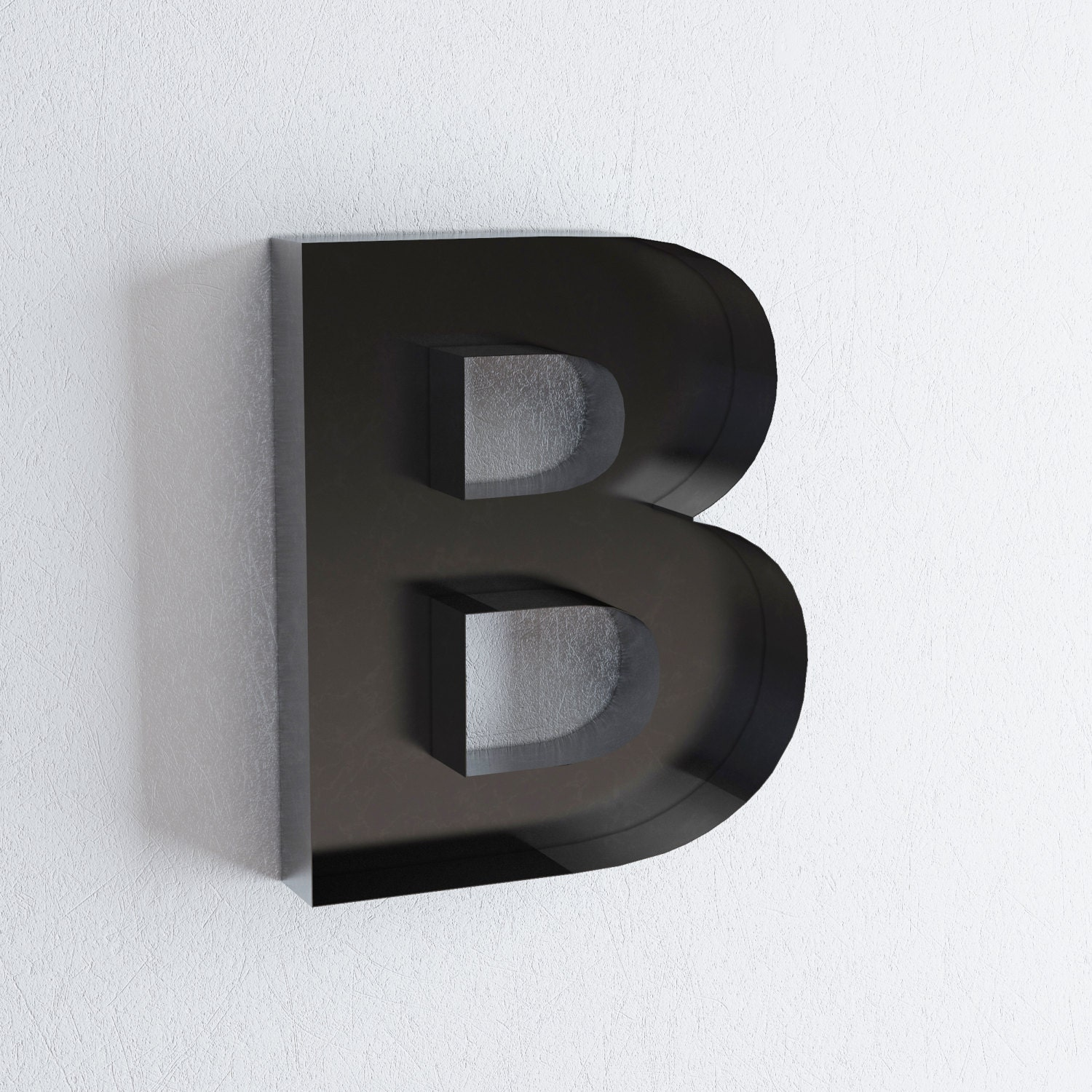Large Metal Letters For Wall Decor : Large b metal letter wall letters sign