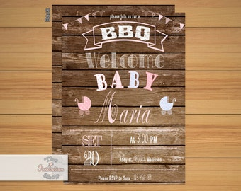 BBQ Babyshower Invitations / Printable
