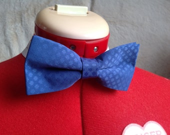 Blue brocard bow tie