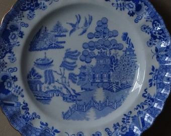 Vintage Plate 'Manufacturers Spode Copeland Stoke Upon Trent' Blue Willow Chinese Plate