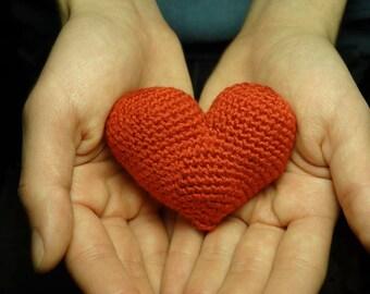 Valentine's Day gift, decorative heart amigurumi, handmade