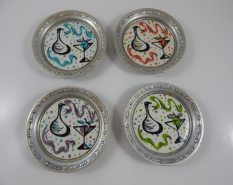 Retro Wrought Farberware Coasters (set of 4)