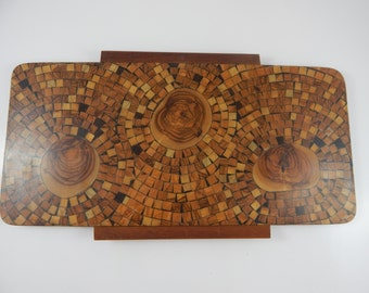 Handmade Olive Wood Tray,  David, Jerusalem Israel
