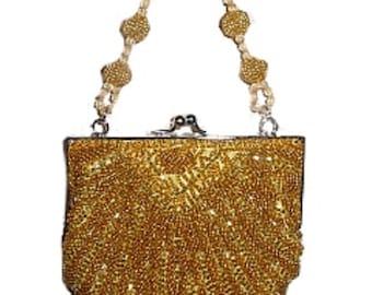 Golden Bead Ladies Handbag (RARE)