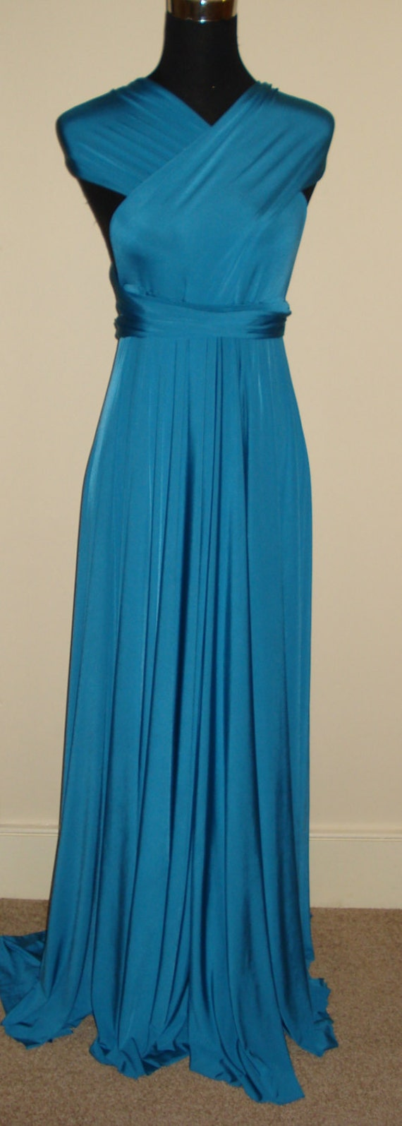 Teal Bridesmaid Dress Teal Blue Convertible Dress Infinity