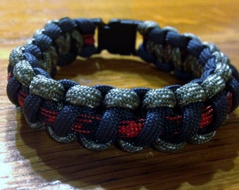 Survival Bracelet with Fishing Tackle