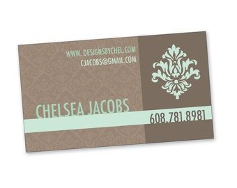 Brown & Mint Business Cards