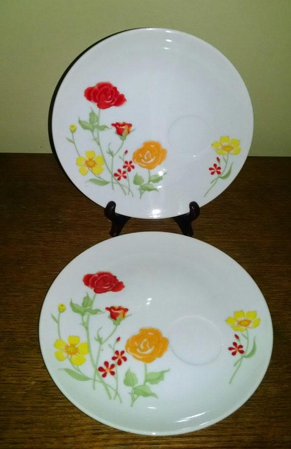 seymour mann flower garden plate dish by varianceboutique on etsy
