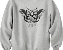 Styles butterfly Tattoo Unisex Crewneck Sweatshirt S to 3XL