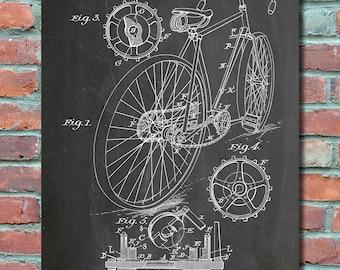 Blueprint Wall Art mountain bike print mountain bike poster mountain bike