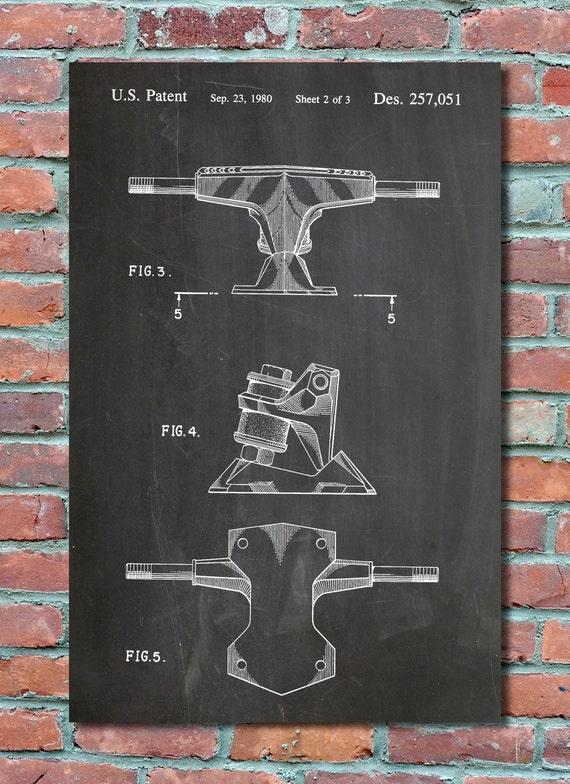 Printed Skateboard Trucks Skateboard Trucks Patent Wall