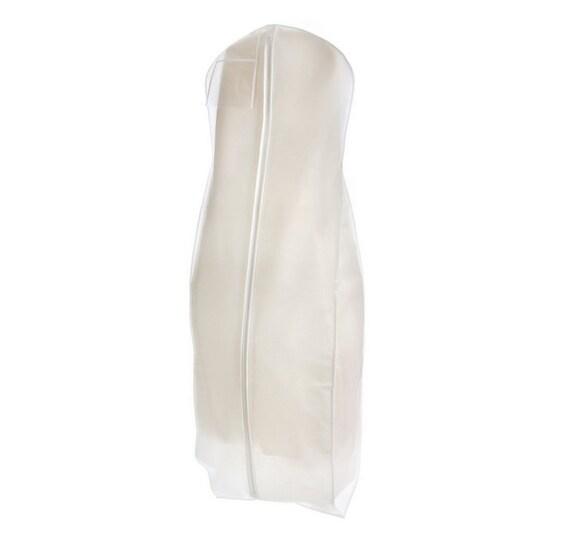 white breathable wedding gown dress garment bag storage big. Black Bedroom Furniture Sets. Home Design Ideas