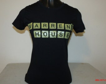 """Warren""""s House ladies shirt in black.  Next Level brand in 65 percent polyester/35 percent cotton"""