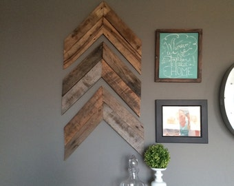 Chevron / arrow reclaimed wood