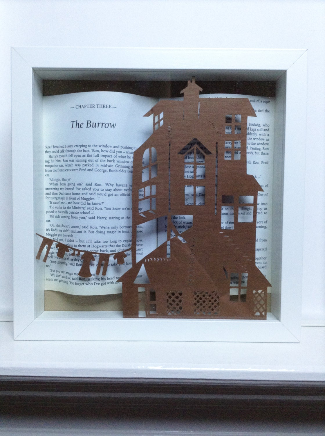 The Burrow Harry Potter Framed Art Paper Cutting Harry