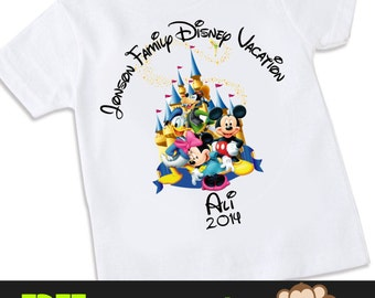 Mickey Mouse Castle Family Disney Vacation Tshirt Shirt