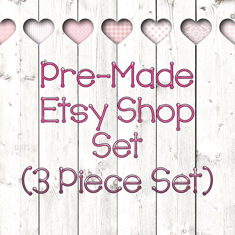 Mothers Day Shop Kit 3 Piece Graphic Template Set Pre Made Banner
