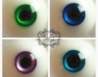 ATG eyes 10mm resin eyes for bjd, custom colors and iris/pupil sizes available