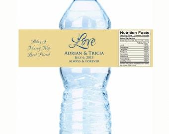 Wedding Water Bottle Labels - Wedding Decor - Love - Wedding bottle labels - wedding stickers, wedding bottle wraps