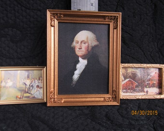 Miniature framed paintings and portraits