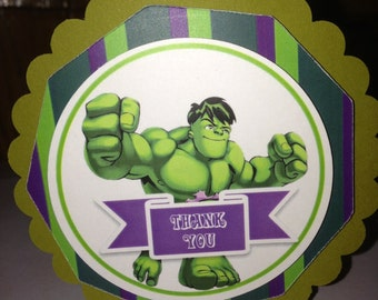 Hulk Favor Clip with Bag - Party Favor - 10 Pack