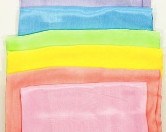 Playsilk Set Of 6 Pastel Colors