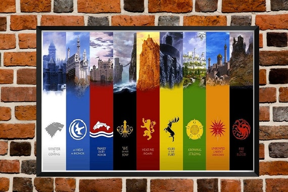 Game Of Thrones All Flags Home Decor Poster by AllThePosters