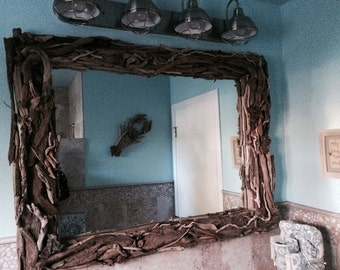 Coastal Wall Mirrors driftwood mirror | etsy