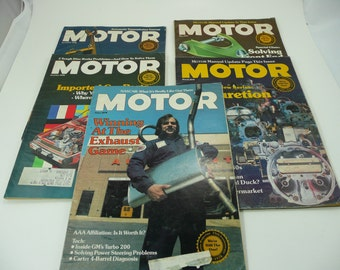 5) Motor Magazines from 1978 Read What was Cutting Edge back in 1978 Automobilia