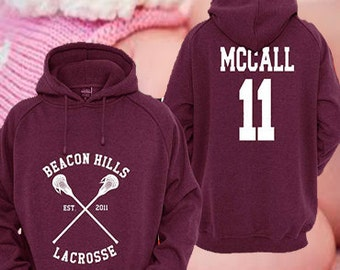 personalized back teen wolf scott mccall 11 maroon. Black Bedroom Furniture Sets. Home Design Ideas