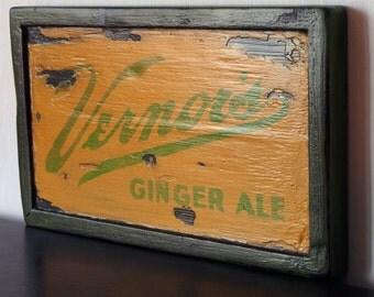 Vermors Ginger Ale - Vintage Wooden Sign / poster Vintage wood