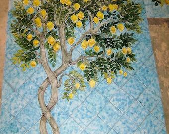 Decorated ceramic lemons